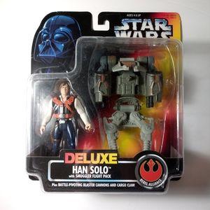 Star Wars Deluxe Han Solo w Smuggler Flight Pack